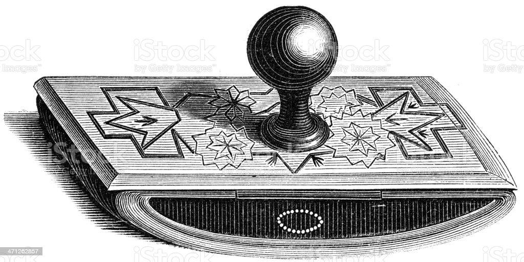 ink Blotter vector art illustration