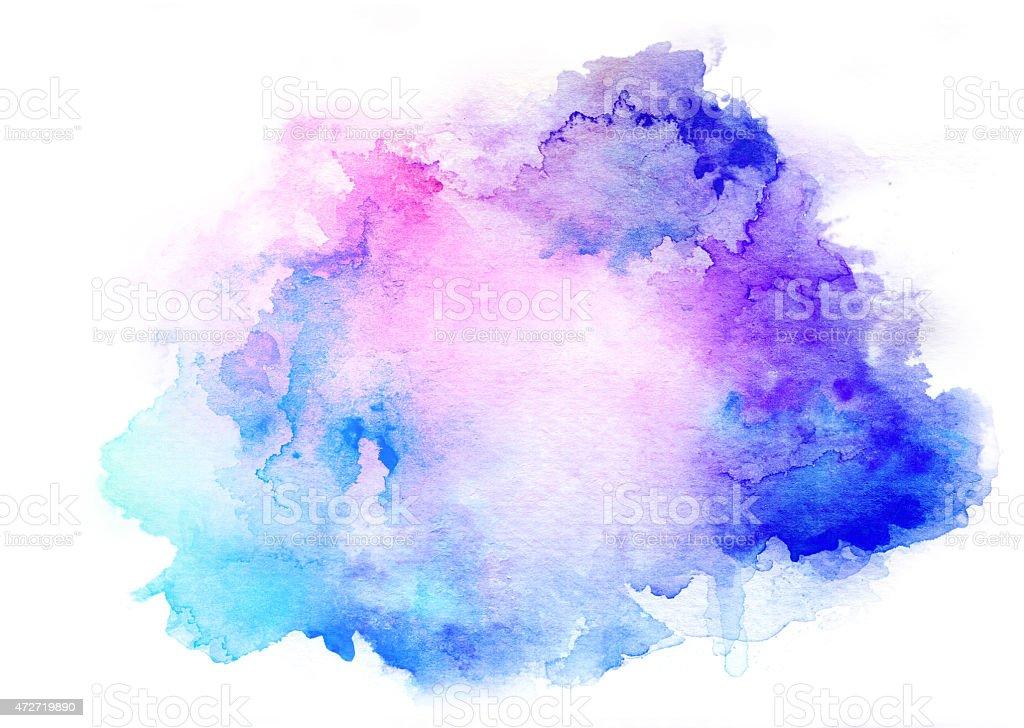 ink blue watercolor background vector art illustration