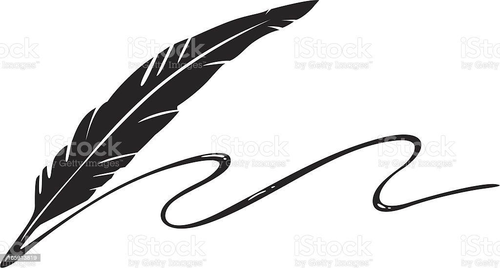 ink feather vector art illustration