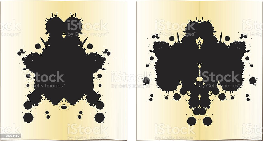 Inkblot tests vector art illustration