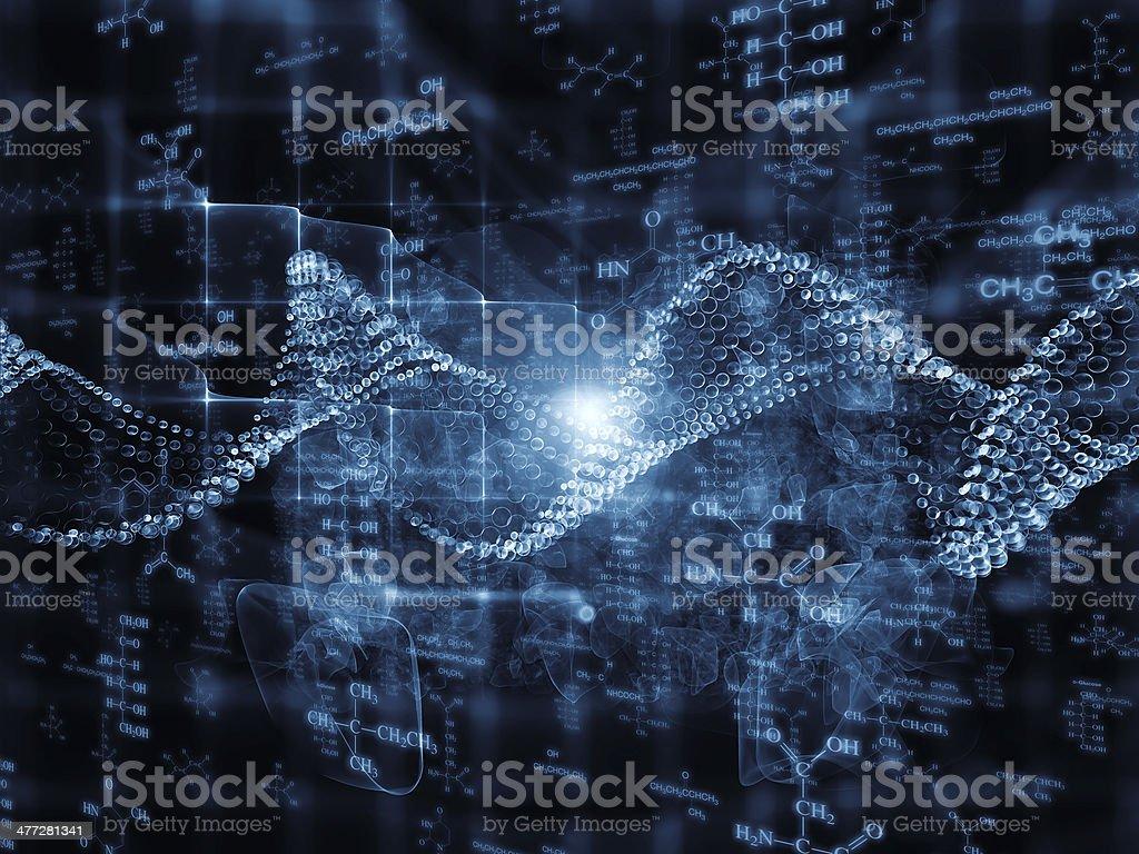 Inner Life of Chemistry vector art illustration