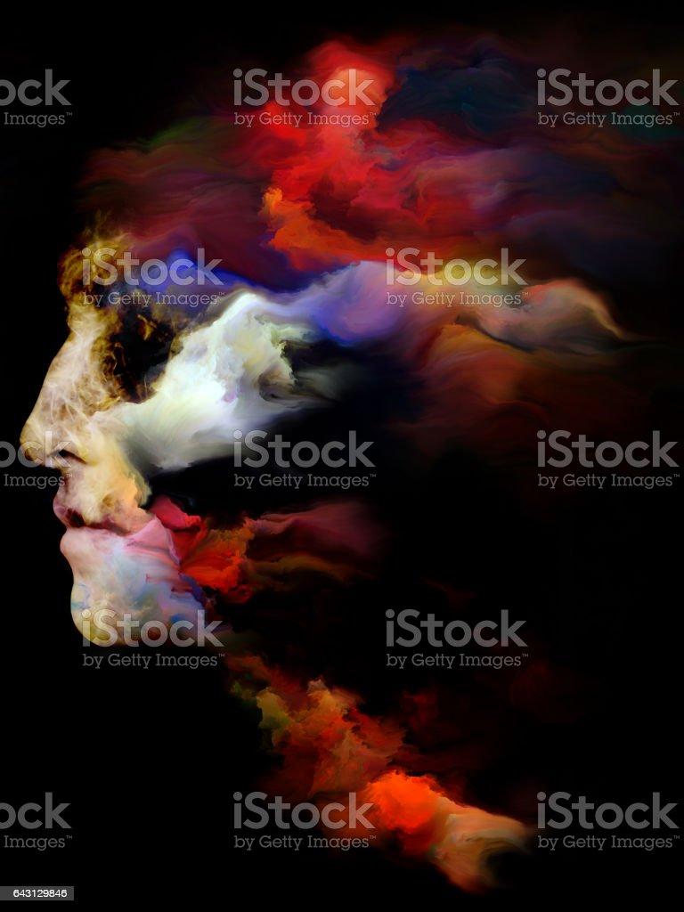 Inner Life of The Mind vector art illustration