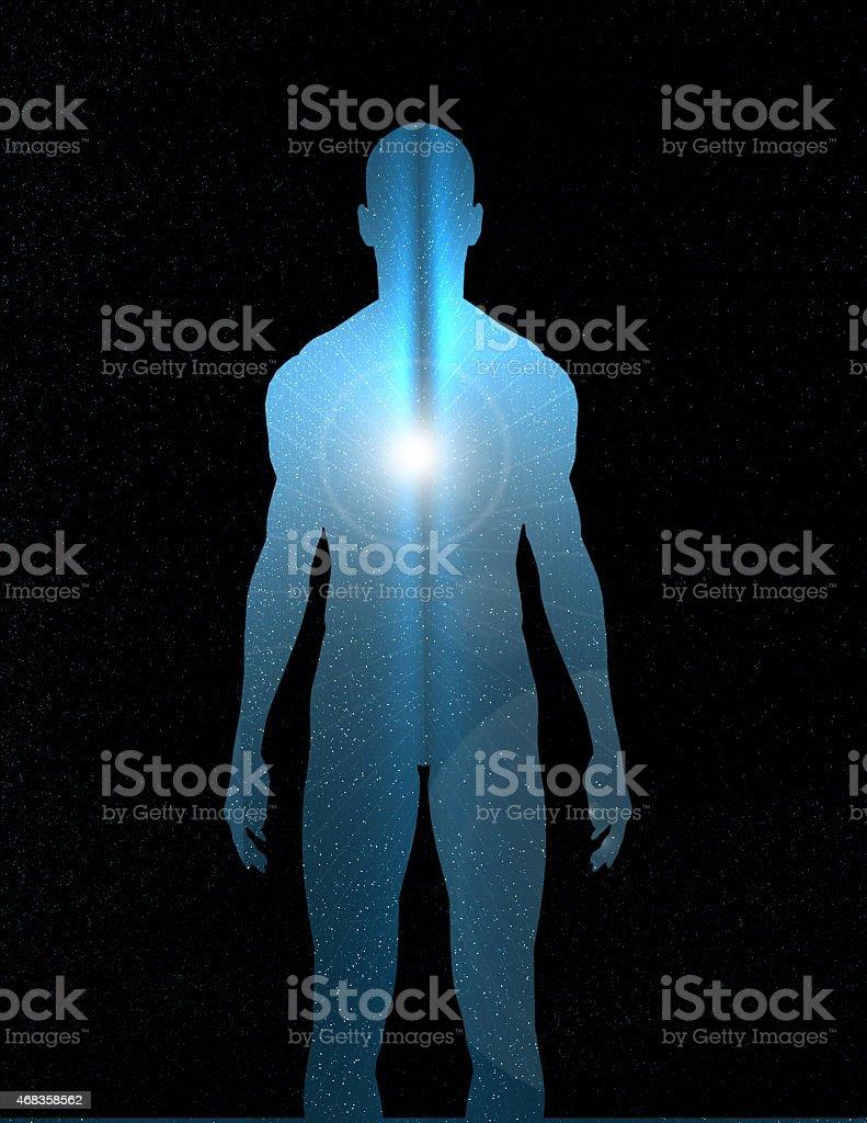 Inner Light vector art illustration