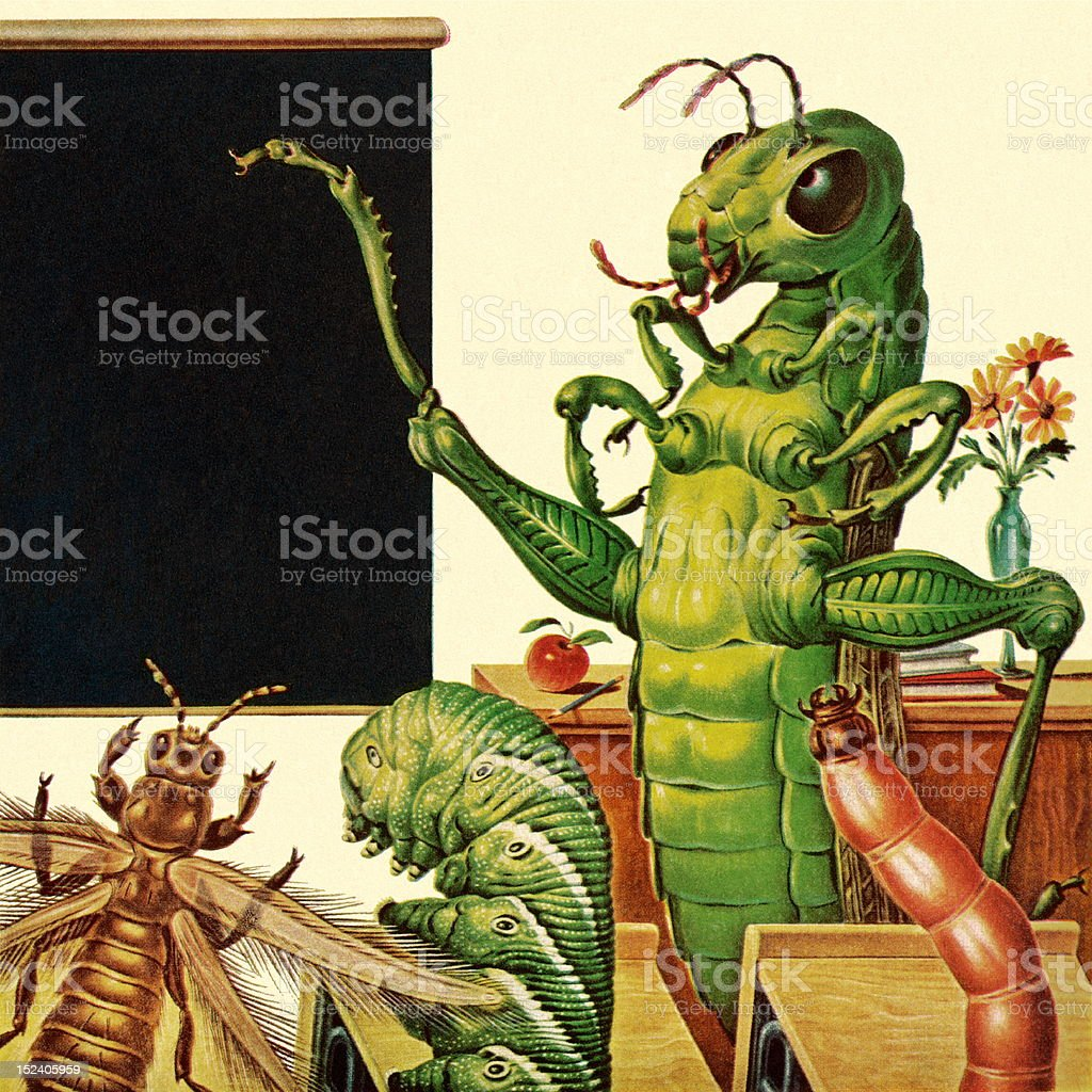 Insect Classroom royalty-free stock vector art