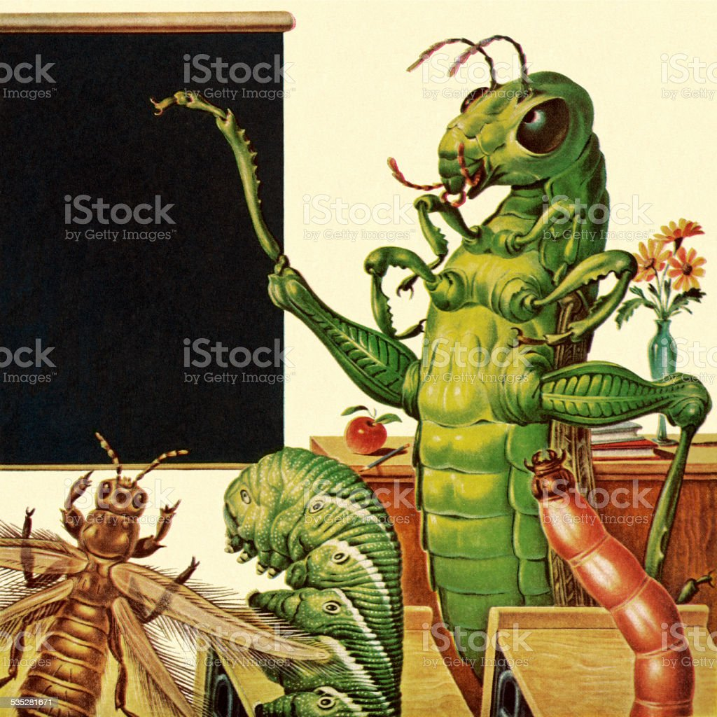 Insect Classroom vector art illustration