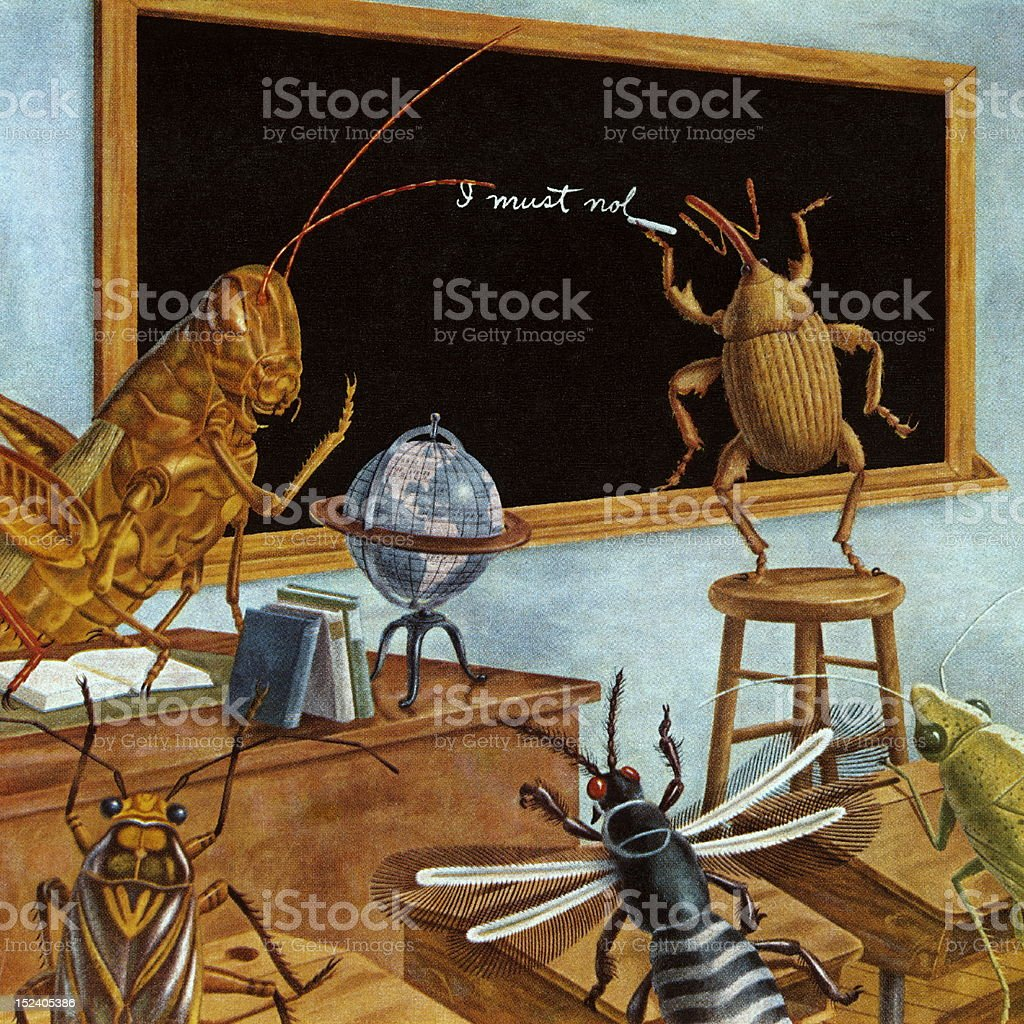 Insect School royalty-free stock vector art