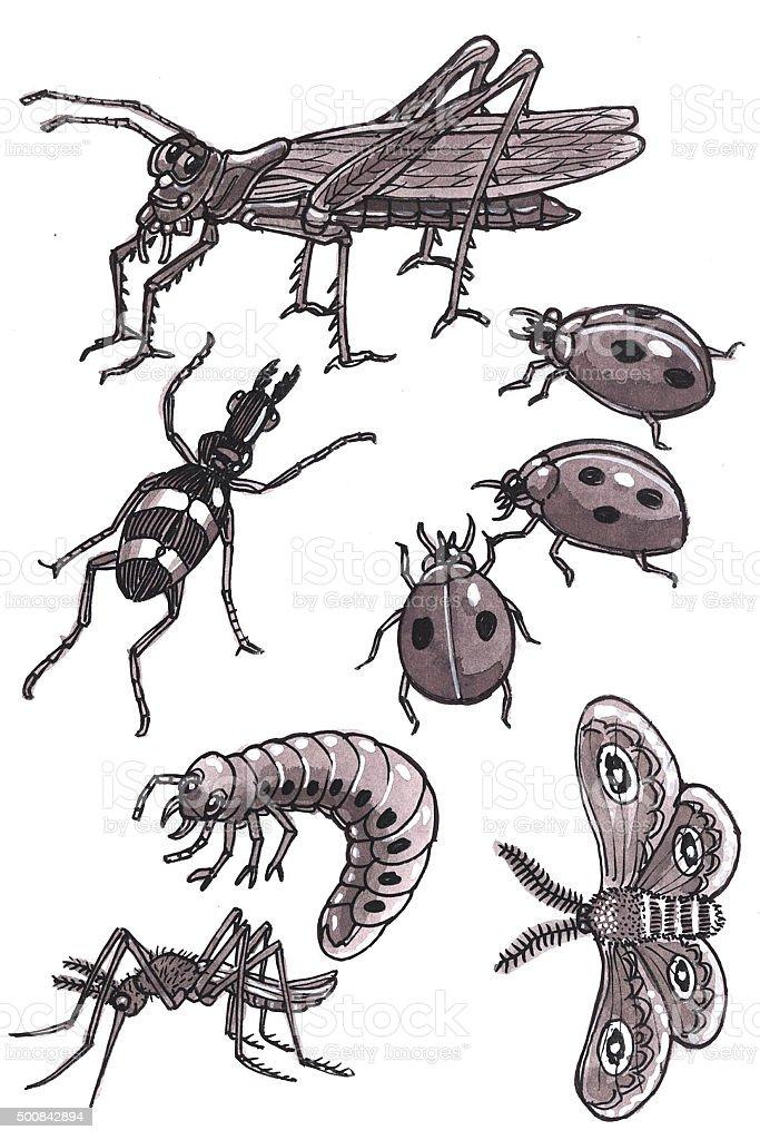 Cartoon Insekten 1 Lizenzfreies vektor illustration