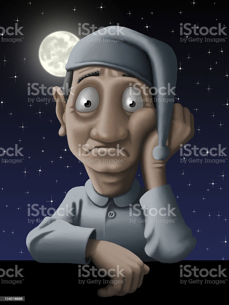 Insomnia vector art illustration