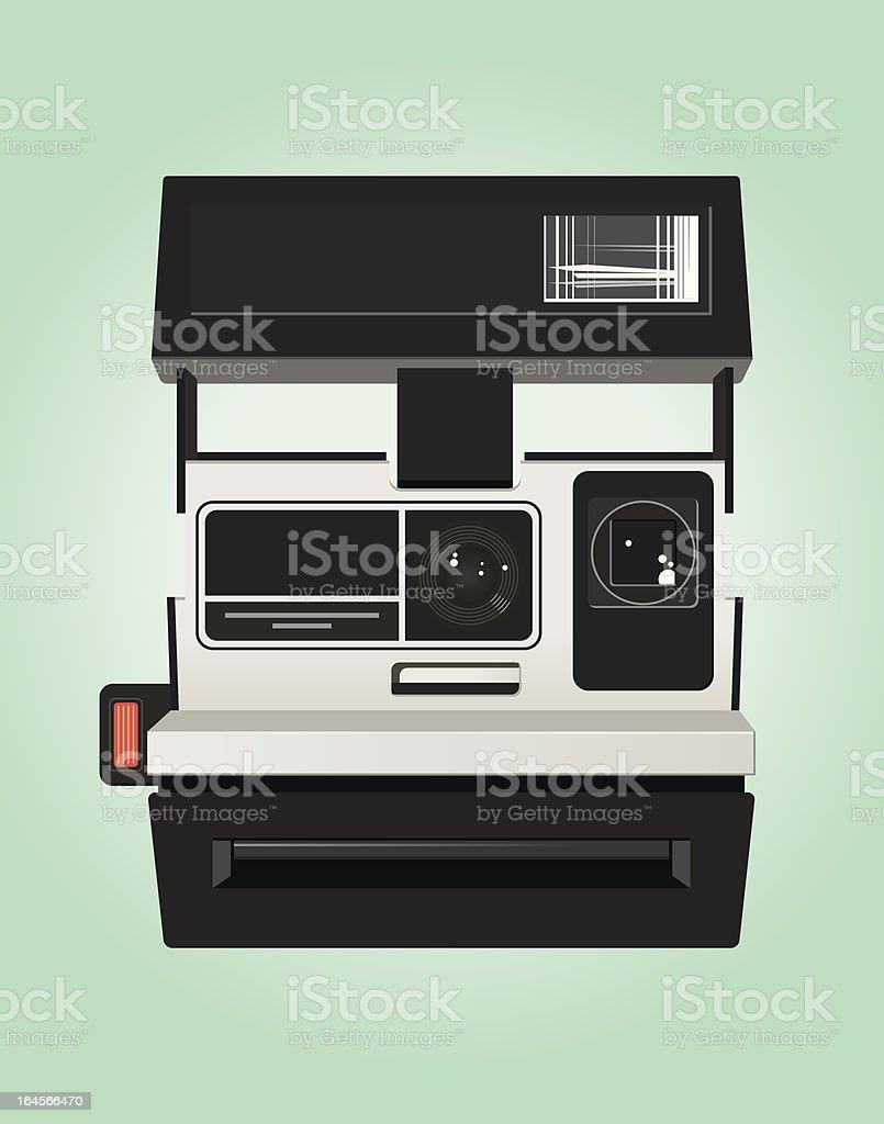 Instant Camera vector art illustration