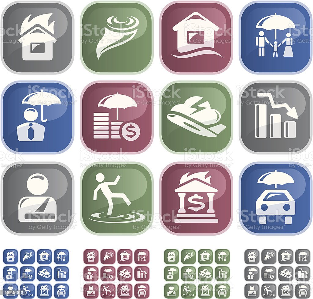 Insurance buttons royalty-free stock vector art