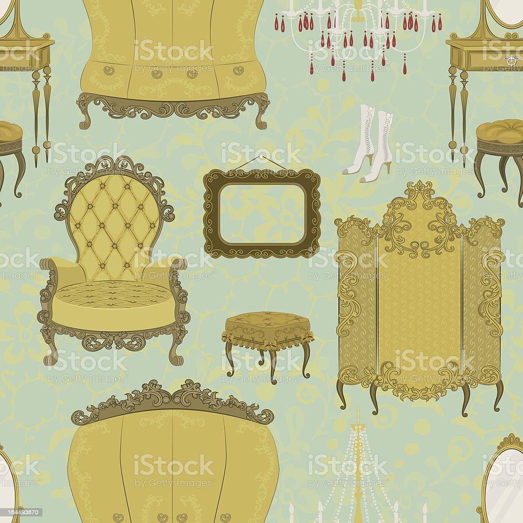 Interior background vector art illustration
