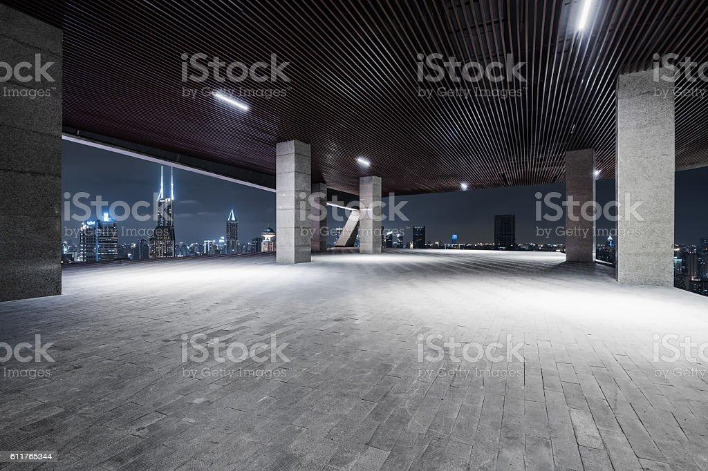 Interior Night of ShangHai vector art illustration