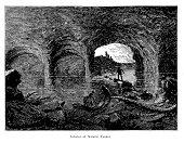 Interior of Natural Tunnel, Virginia