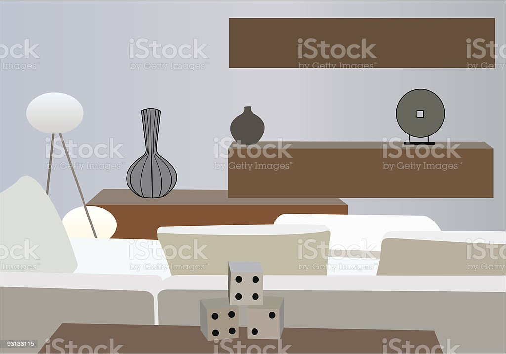 interior white vector room royalty-free stock vector art