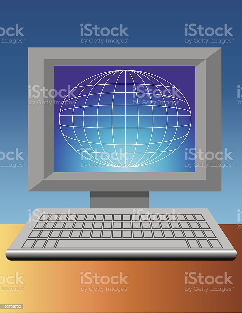 international computer communication royalty-free stock vector art