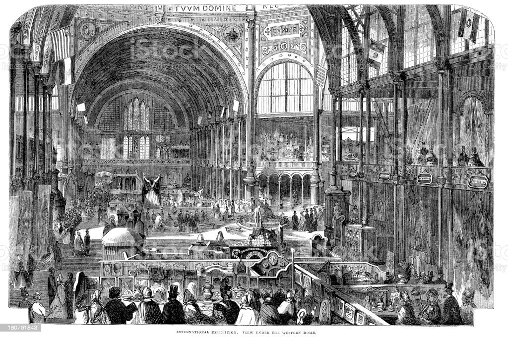 International Exhibition 1862 royalty-free stock vector art
