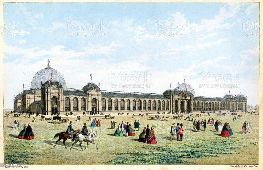 International Exhibition of 1862 royalty-free stock vector art