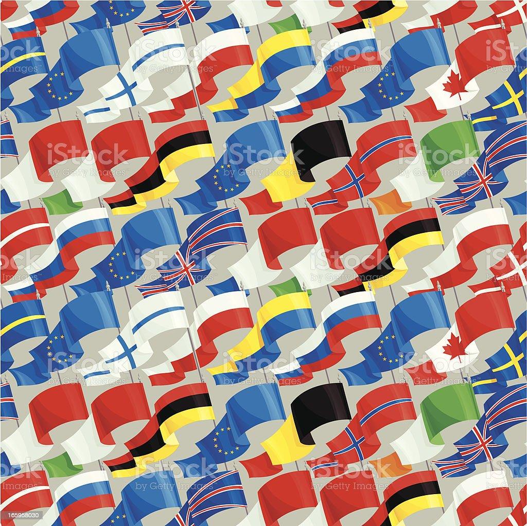 International Flag Pattern royalty-free stock vector art