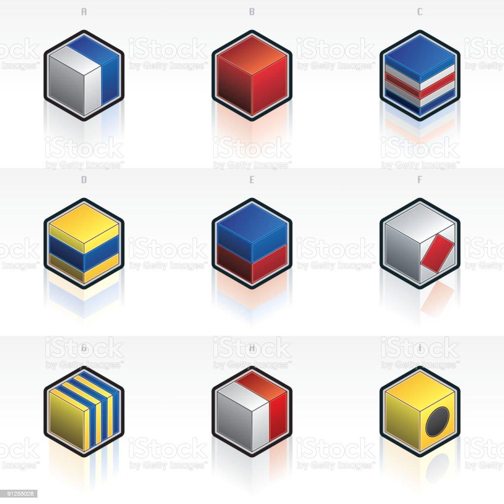 International maritime signal flags royalty-free stock vector art