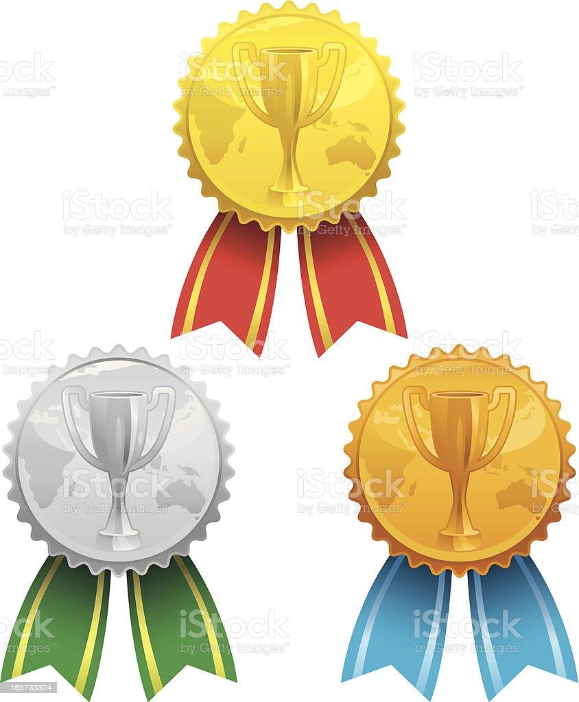 international medals royalty-free stock vector art