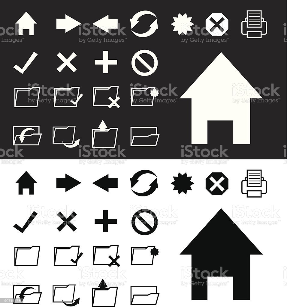internet and folder icons royalty-free stock vector art