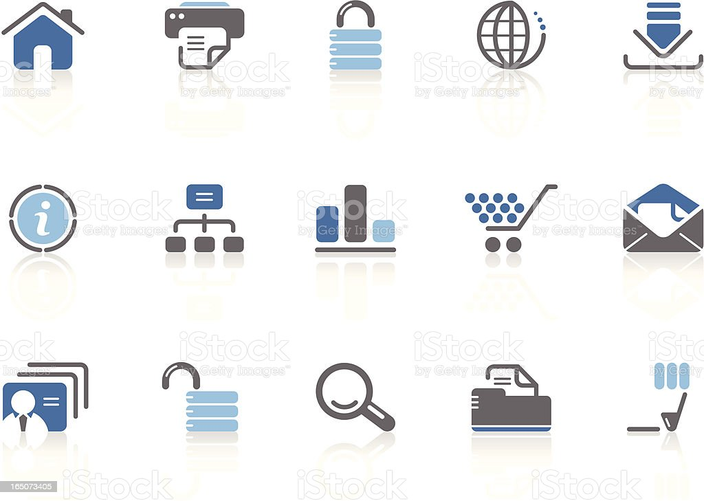 Internet and website icons | azur series vector art illustration