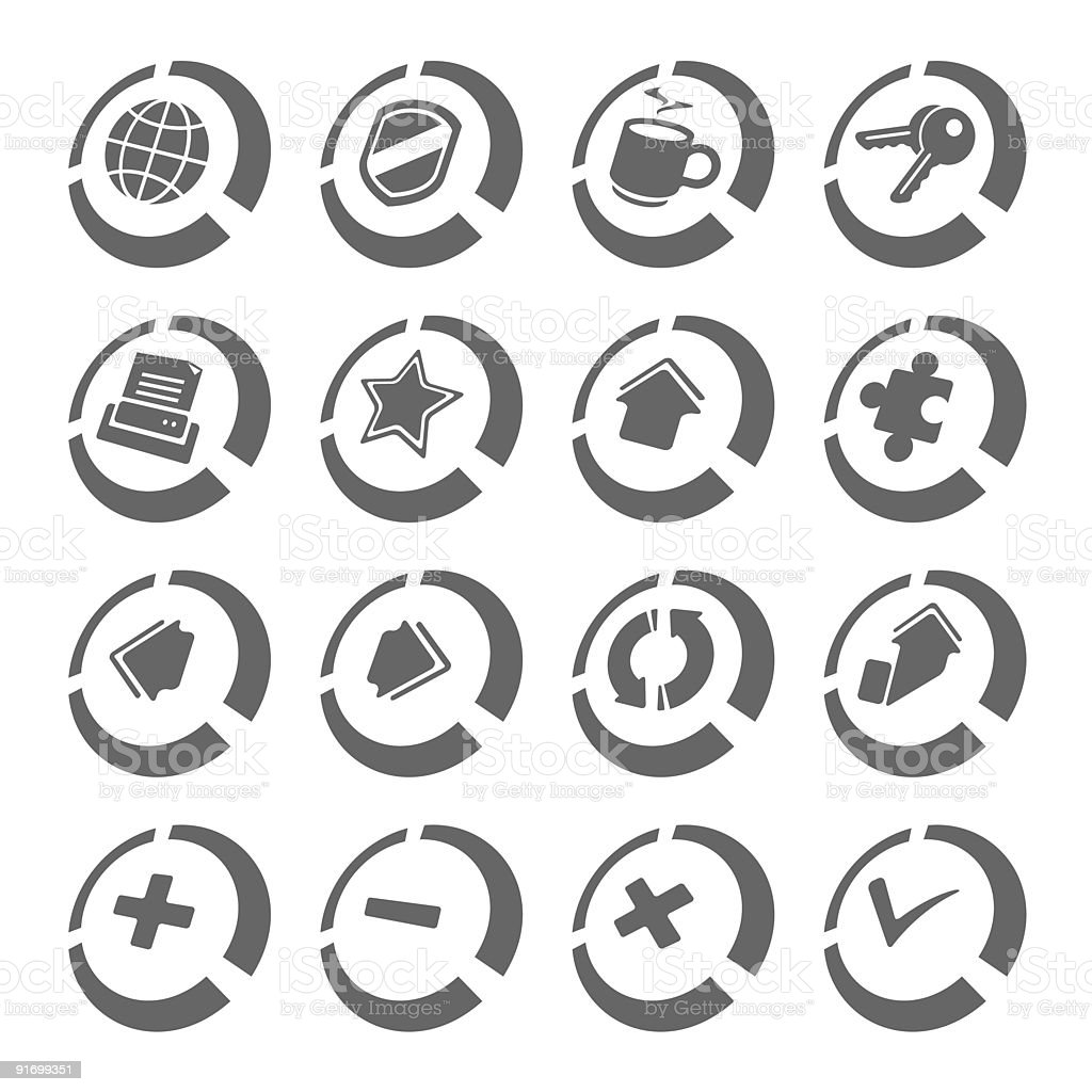 Internet browser icons | Disk series royalty-free stock vector art