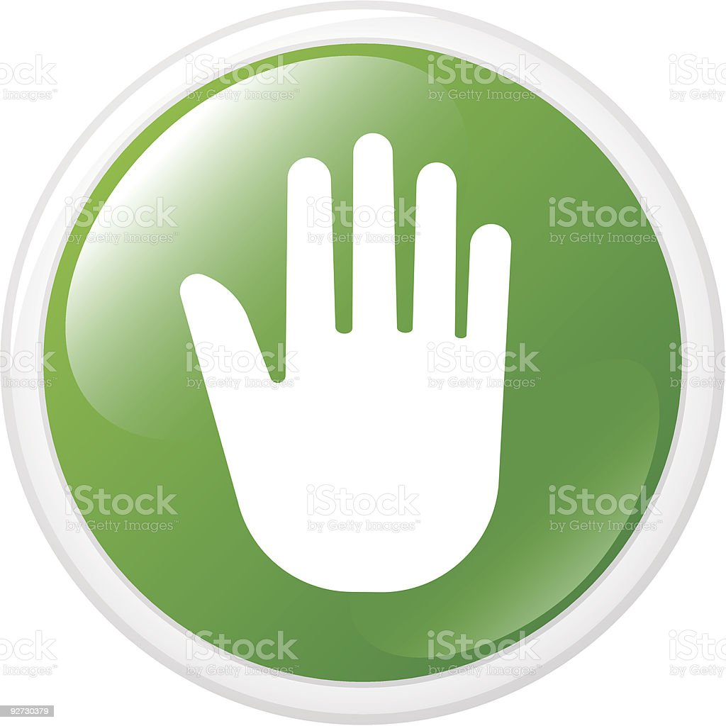 Internet button with hand vector art illustration