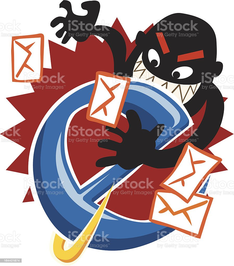 Internet Hack royalty-free stock vector art