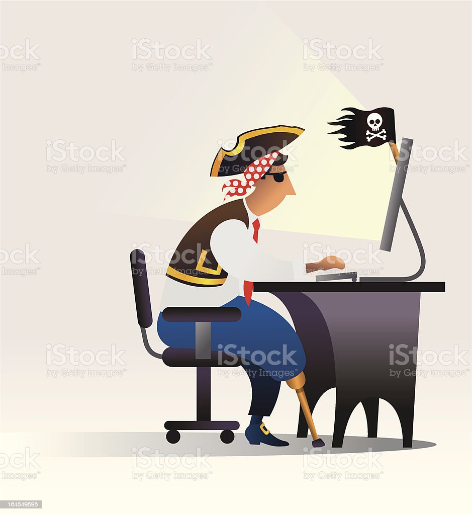 internet piracy royalty-free stock vector art