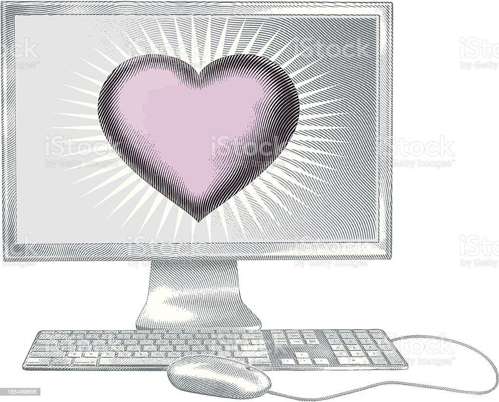 Internet Romance royalty-free stock vector art