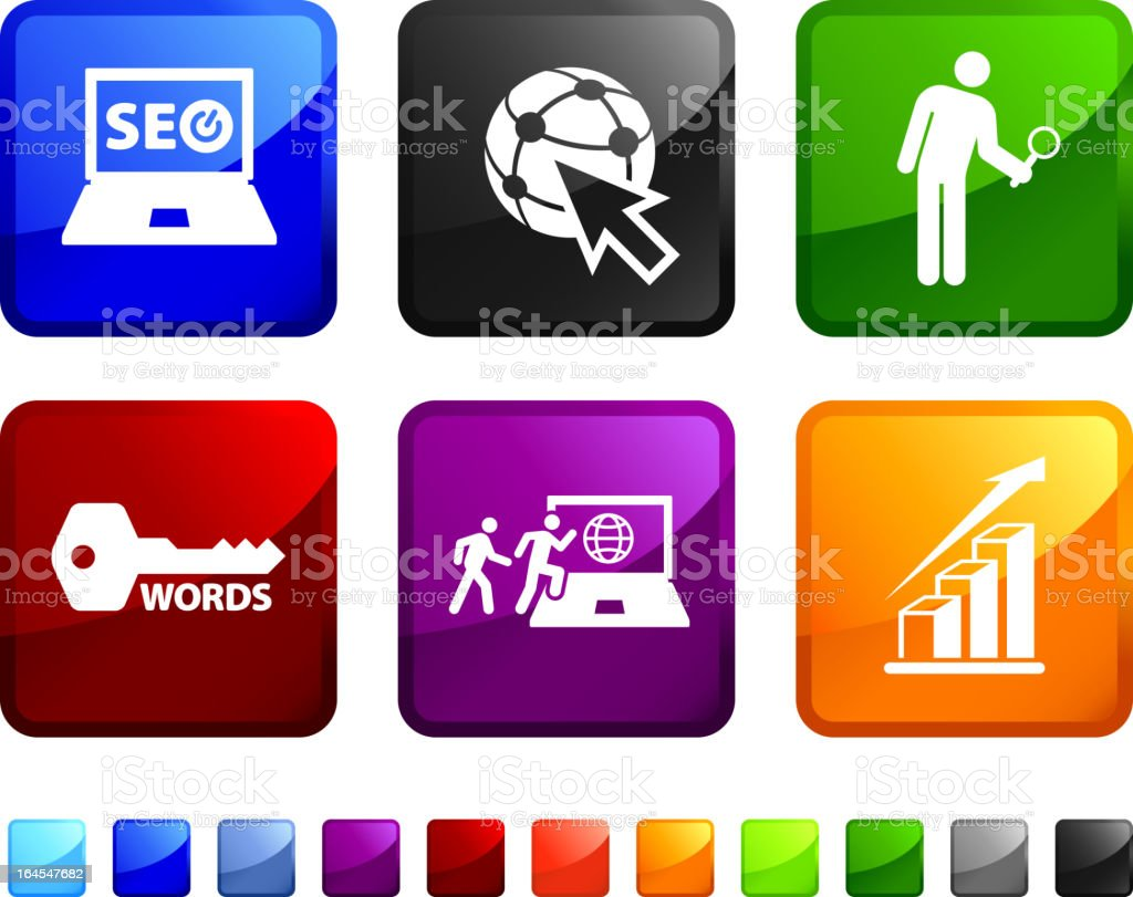 Internet search engine royalty free vector icon set royalty-free stock vector art