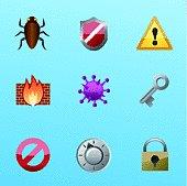 Internet Security Anti Virus Icon Set
