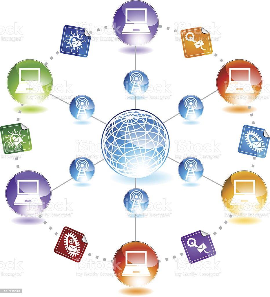 Internet Viruses royalty-free stock vector art