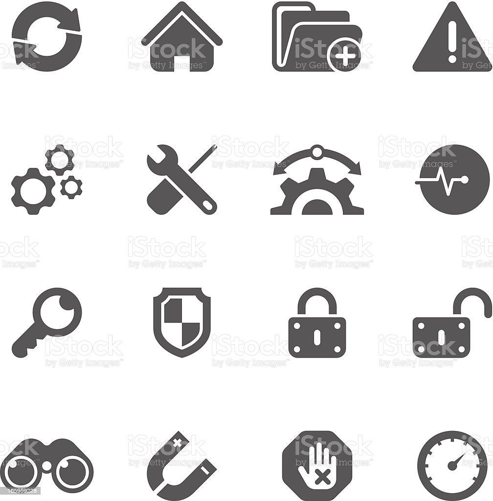 Internet & Web Icon Set | Unique Series vector art illustration