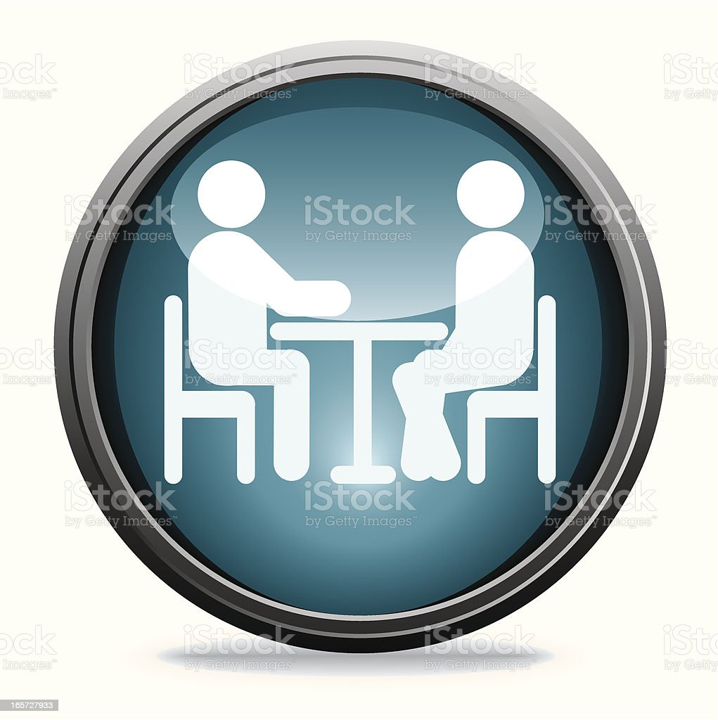 Interview   Glass Collection vector art illustration