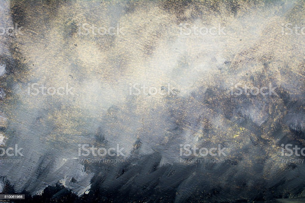 Into the heavy storm cloud vector art illustration