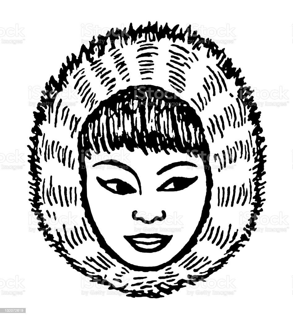 Inuit Woman vector art illustration