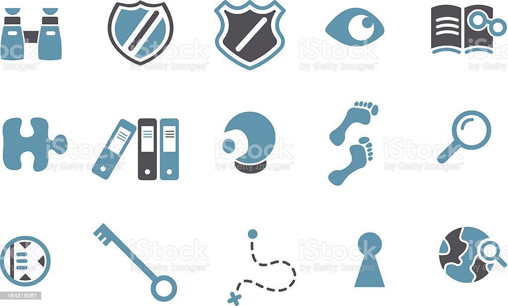 Investigation Icon Set vector art illustration