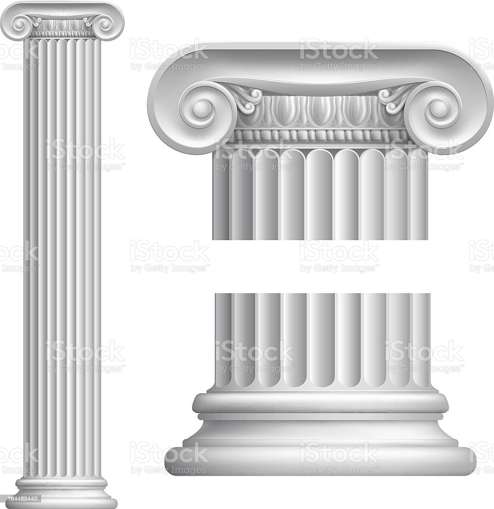 Ionic column royalty-free stock vector art