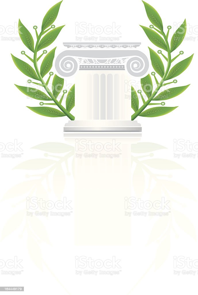 Ionic Greek Column or Pedestal vector art illustration