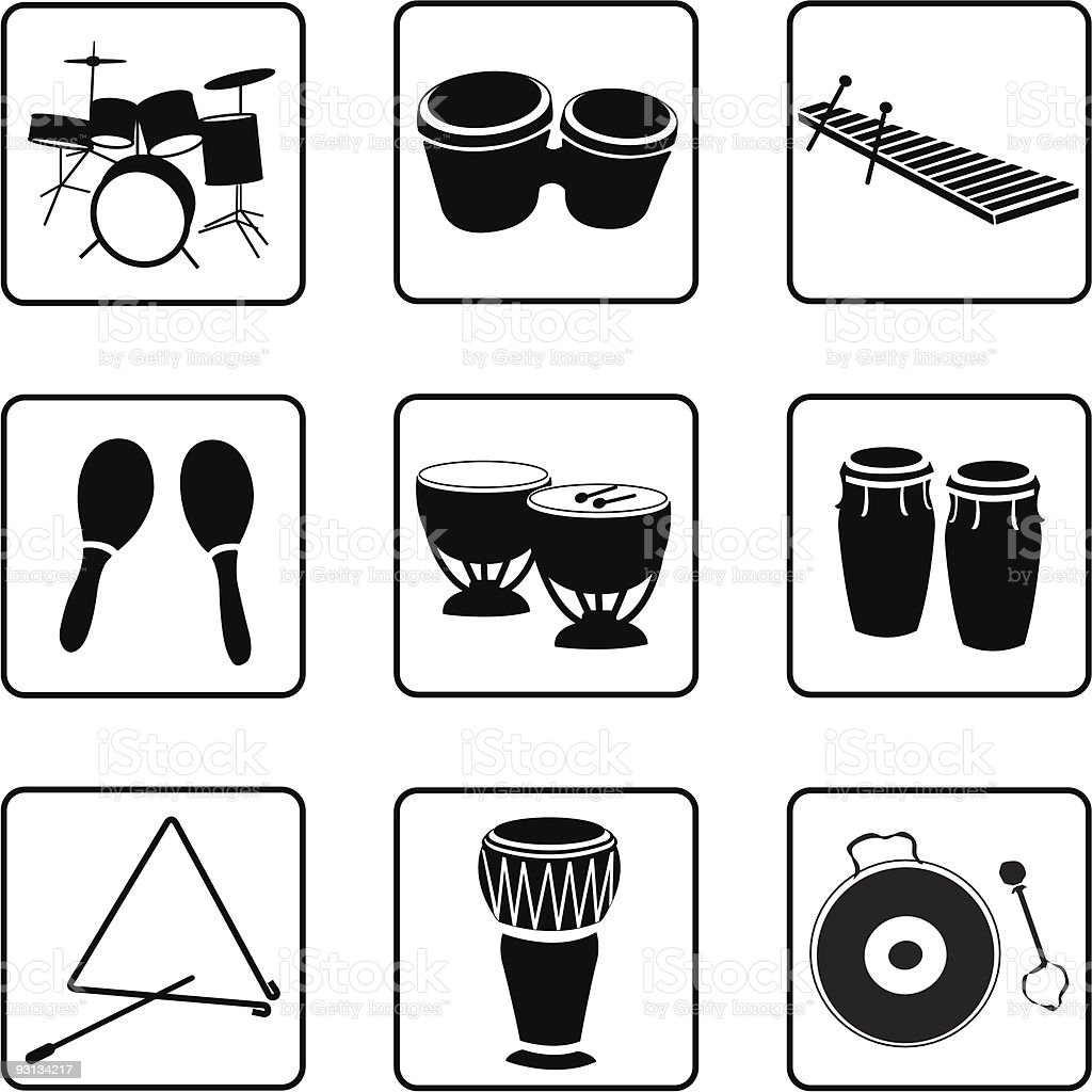 iPercussion vector art illustration