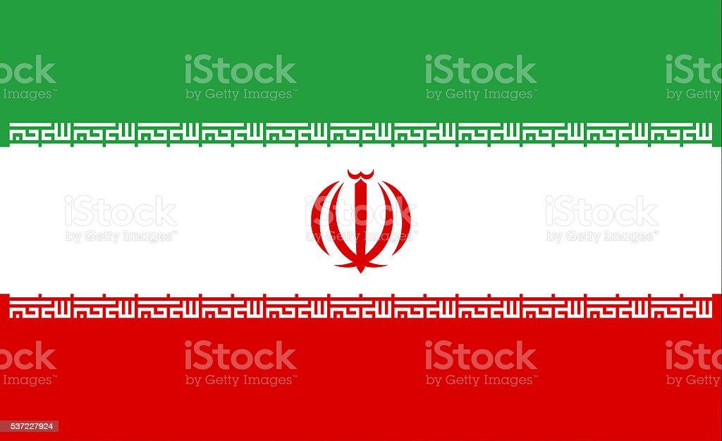 Iran flag vector art illustration