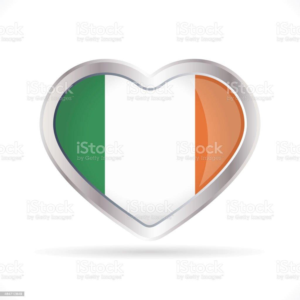 Ireland heart icon royalty-free stock vector art