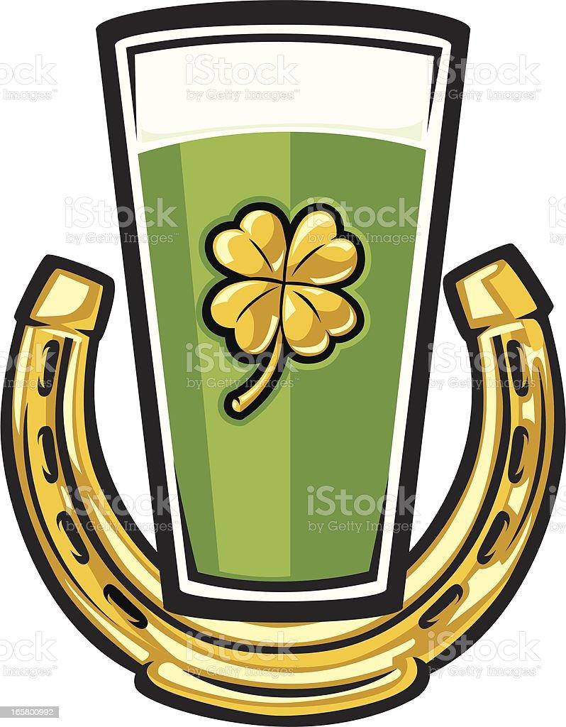irish beer vector art illustration