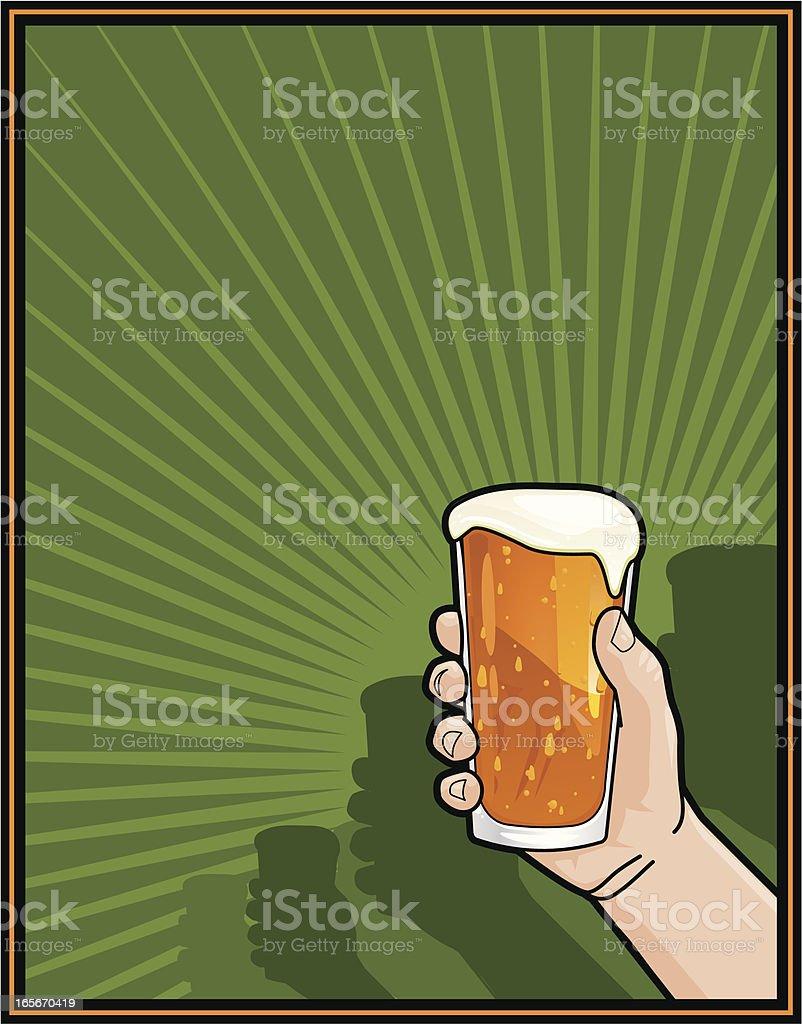 irish beer toast royalty-free stock vector art