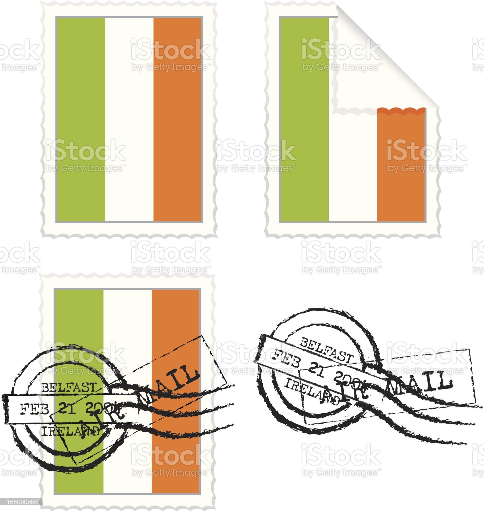 Irish Flag Stamp Set royalty-free stock vector art