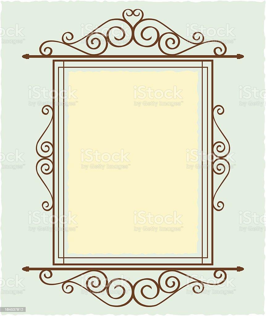 Iron Sign royalty-free stock vector art