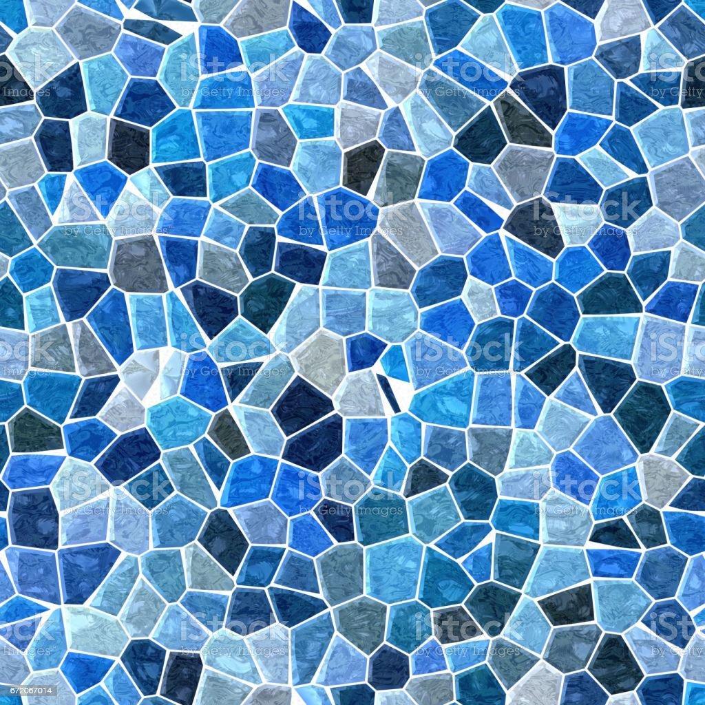 irregular mosaic seamless background - pavement navy blue colored vector art illustration