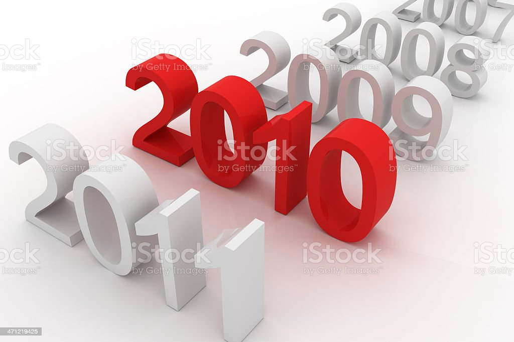 2010 is here vector art illustration